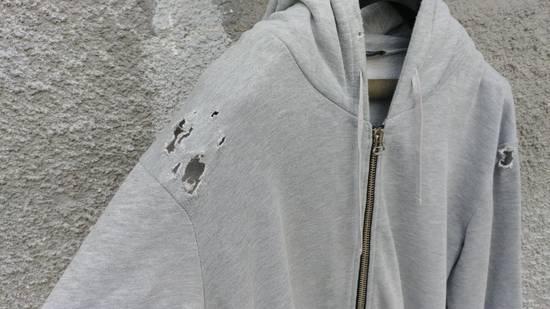 Balmain FW10 Balmain Grey Destroyed Distressed Decarnin Era Men's Hoodie size L (XL) Size US L / EU 52-54 / 3 - 2