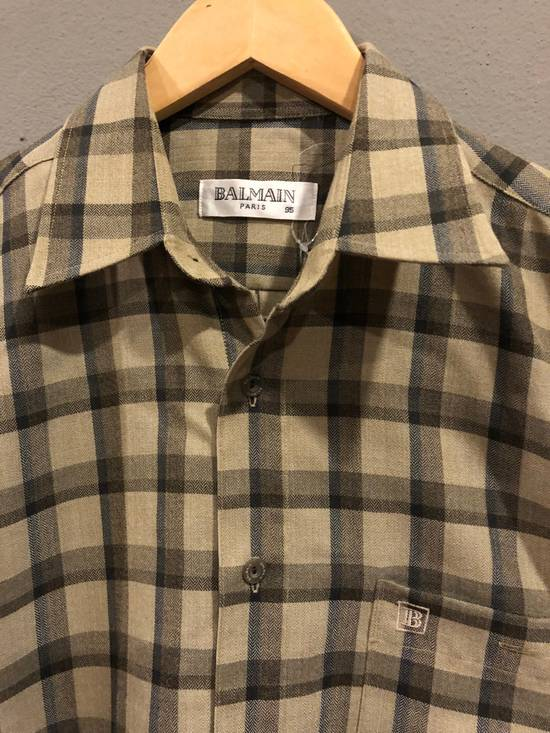 Balmain Balmain Paris Plaid Shirt Button Down Size M Size US M / EU 48-50 / 2 - 1