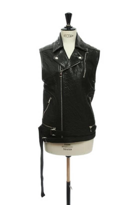 Balmain BALMAIN classic black pebble leather sleeveless biker jacket S FR46 US36 UK36 Size US S / EU 44-46 / 1 - 1