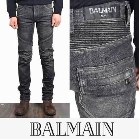 Balmain BNWT : Made In Japan Black Washed Biker Jeans W31 F17.5cm Size US 31
