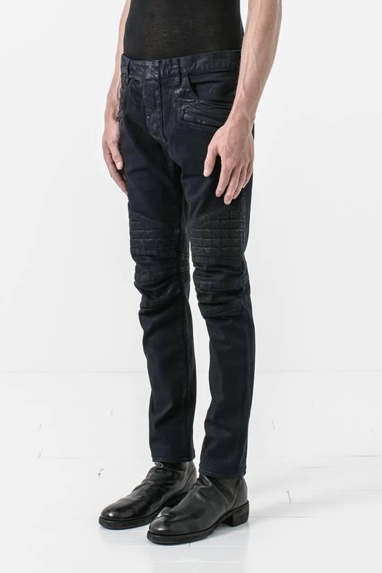 Balmain waxed slim biker jean Size US 31 - 1