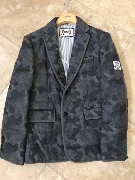 Thom Browne Moncler Gamme Bleu Camo Cashmere Blazer Size 38R