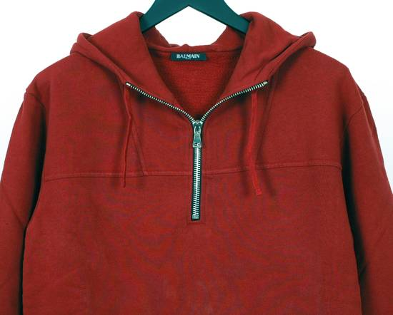 Balmain Original Balmain Red Men Hooded Top Sweatshirt Jumper in size L Size US L / EU 52-54 / 3 - 2