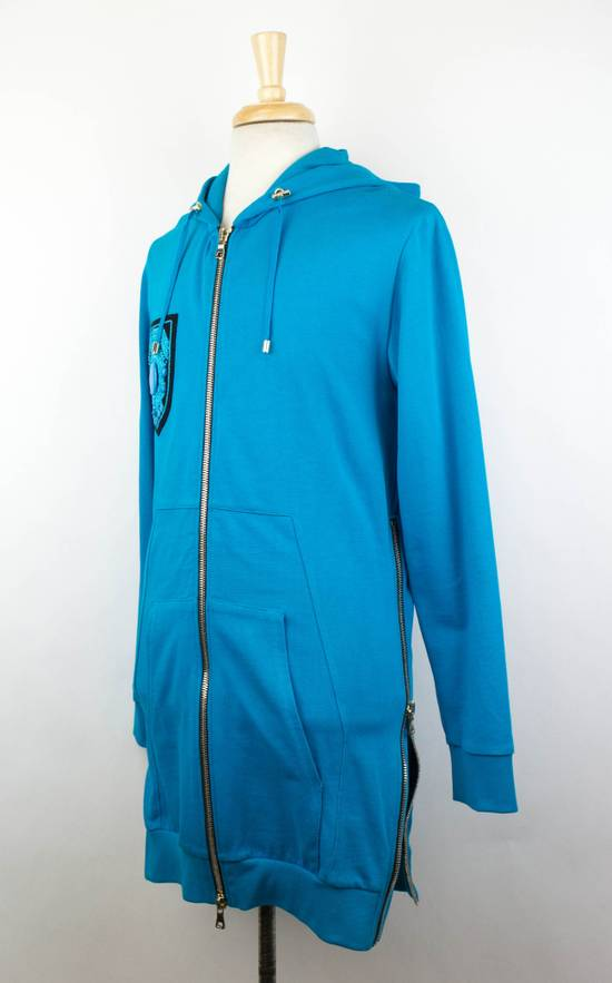 Balmain Men's Turquoise Cotton Zip-Up Long Hoodie Sweater Size Medium Size US M / EU 48-50 / 2 - 1