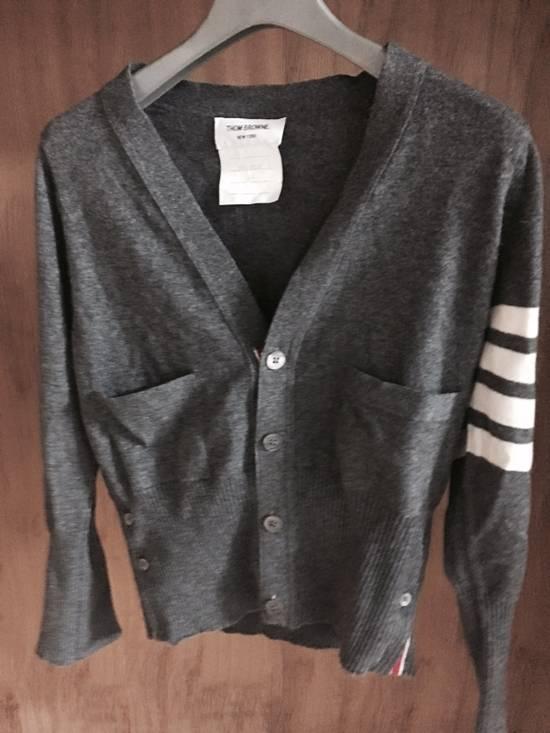 Thom Browne Thom Browne Cardigan Cashmere Grey Size US XS / EU 42 / 0