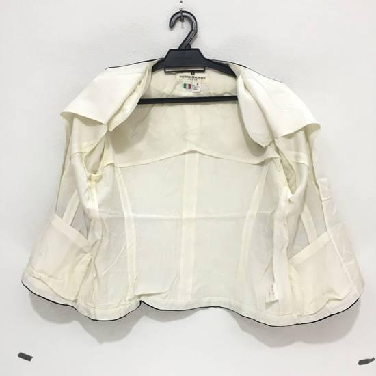 Balmain PIERRE BALMAIN PARIS Double Breasted Made In ITALY White Blouse Jacket Blazer Size 36S - 10