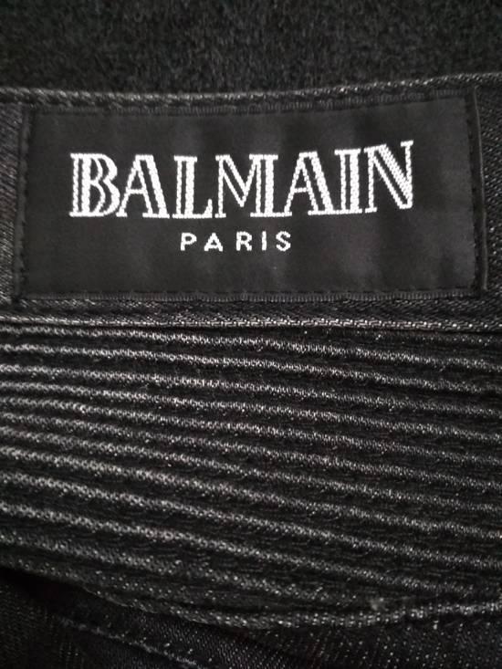 Balmain Authentic BALMAIN Dark Grey Slim Biker Stretch Denim Jeans Made in Italy Size US 32 / EU 48 - 11