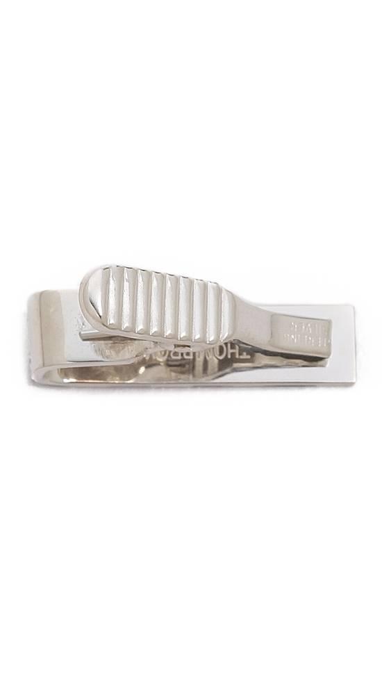 Thom Browne Thom Browne Classic RWB Silver Short Tie Bar Size ONE SIZE - 1