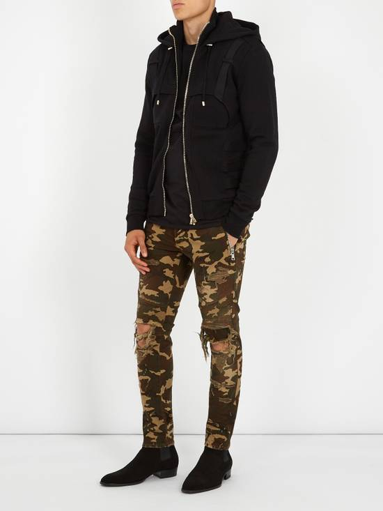 Balmain Size 36 - Heavily Distressed Camo Biker Jeans - FW17 - RARE Size US 36 / EU 52