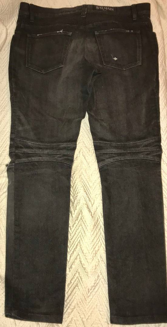 Balmain Distressed Slim Biker Jeans Size US 34 / EU 50 - 5