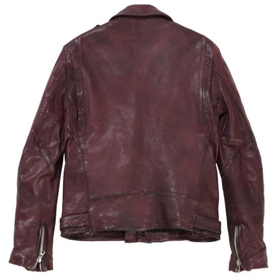 Balmain Oxblood Lambskin Leather Biker Jacket Size US L / EU 52-54 / 3 - 1
