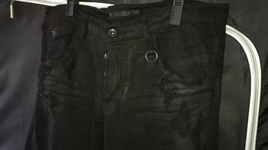 Julius 2010SS Distress Destroyed Coated Denim Slim Biker Jeans Size US 34 / EU 50 - 1