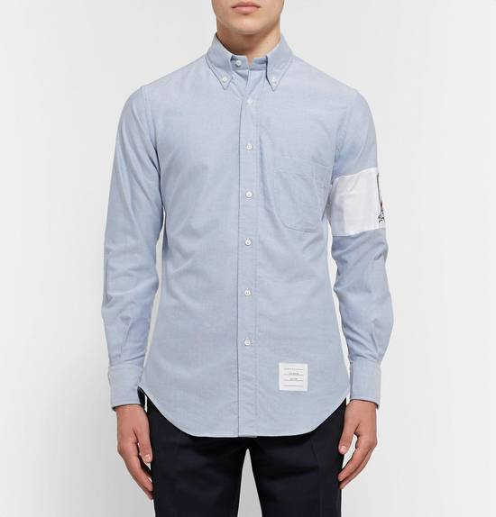 Thom Browne Slim-Fit Button-Down Collar Embroidered Cotton Oxford Shirt Size US S / EU 44-46 / 1 - 2