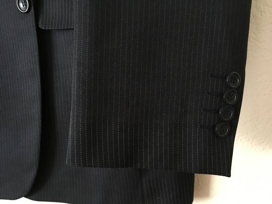 Givenchy GIVENCHY Wool Twill Three Button Navy Pinstripe Suit Jacket Drop 6 Size 42R - 4