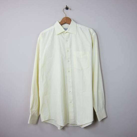 Balmain Balmain Paris 16 1/2/42 80% Cotton 20% Polyester Made in Hong Kong Light Yellow Long Sleeve Front Pocket Button Up Shirt Size US L / EU 52-54 / 3
