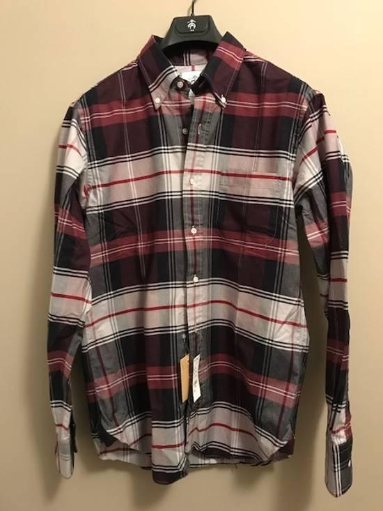 Thom Browne Tartan Oxford Button-Down Shirt Size US M / EU 48-50 / 2