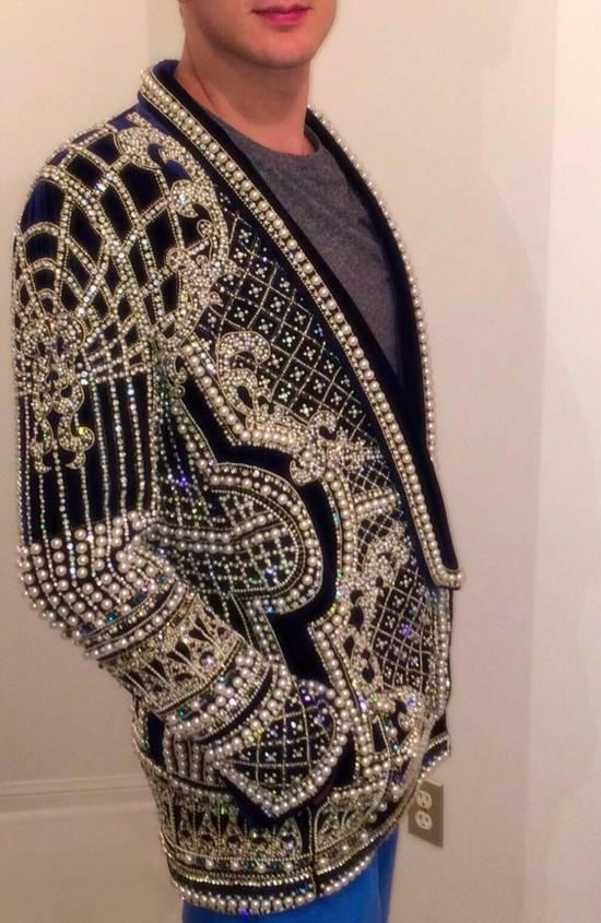 Balmain Balmain Fall 2012 Swarovski Crystal & Pearl Fabergé Tuxedo Size US XXL / EU 58 / 5 - 4