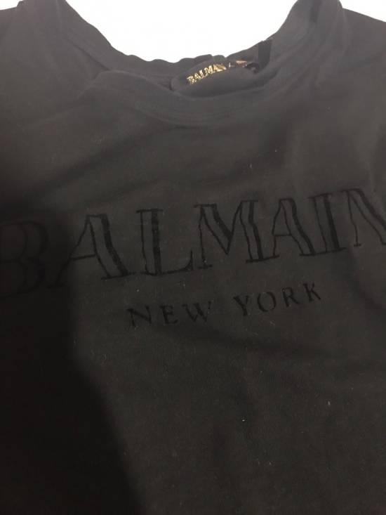 Balmain Balmainx H&M Black Tee Size US M / EU 48-50 / 2 - 2