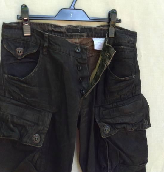 Julius Gas Mask Cargos Brown Waxed Denim Size US 31 - 5