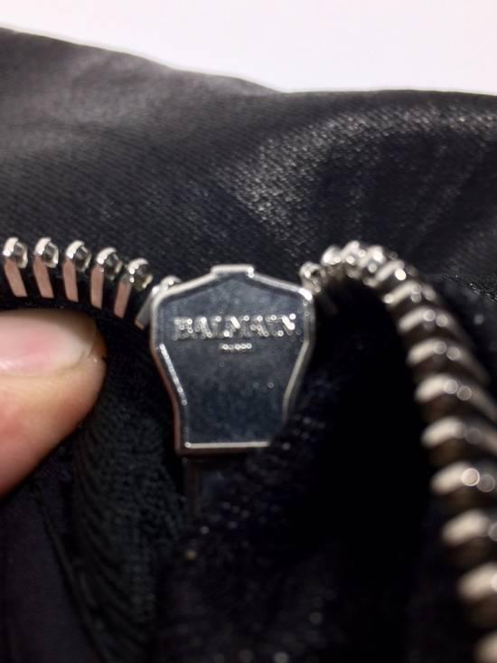 Balmain BNWT Black Waxed Denim Skinny Biker Jeans Size US 30 / EU 46 - 12