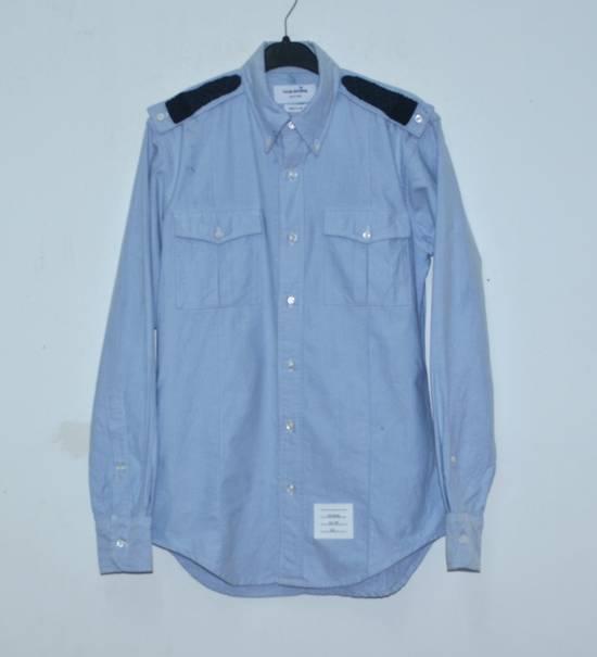 Thom Browne Thom Browne Blue Oxford slim fit Dress shirts Size US L / EU 52-54 / 3