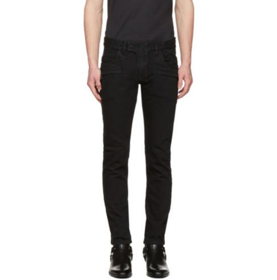 Balmain Balmain Black Biker Jeans Size US 32 / EU 48