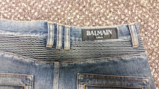 Balmain New! MIJ distressed selvage pleated bikers Size US 29 - 5