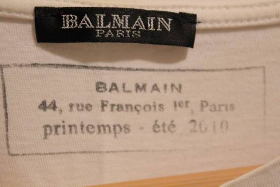Balmain Rare Decarnin 2010 Twisted Seam White T Shirt Made In France Size US M / EU 48-50 / 2 - 4