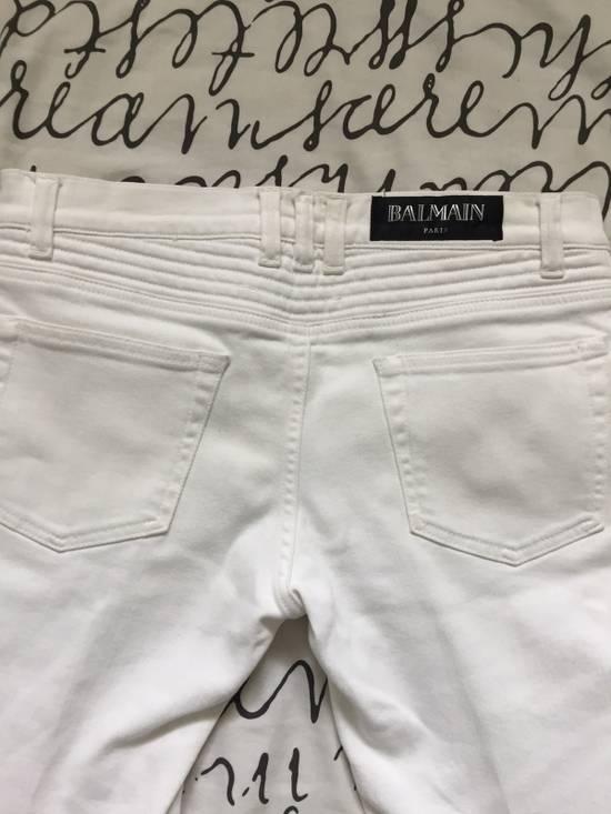 Balmain Balmain White Biker Jeans Size US 29 - 2