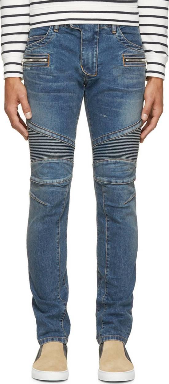 Balmain Rare SS 15 Balmian Biker jeans Size US 32 / EU 48