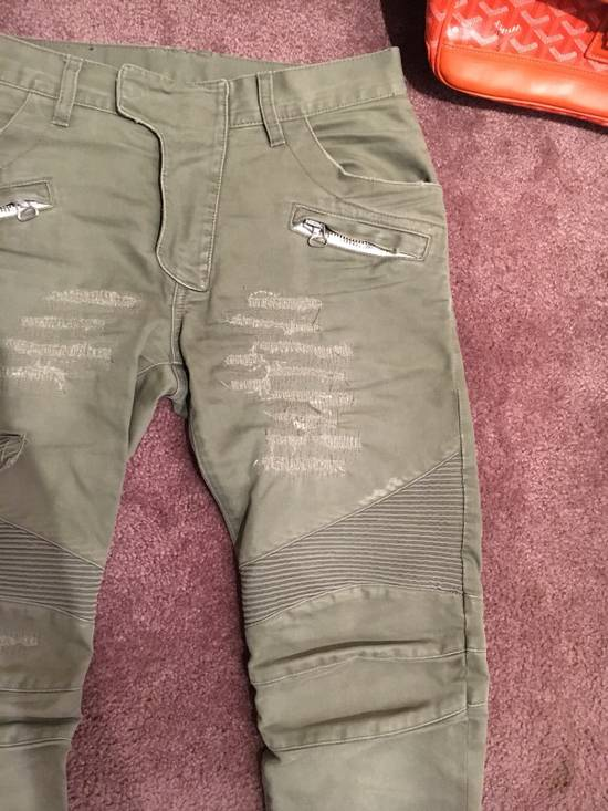 Balmain Distressed Olive Green Balmain Size US 31 - 2