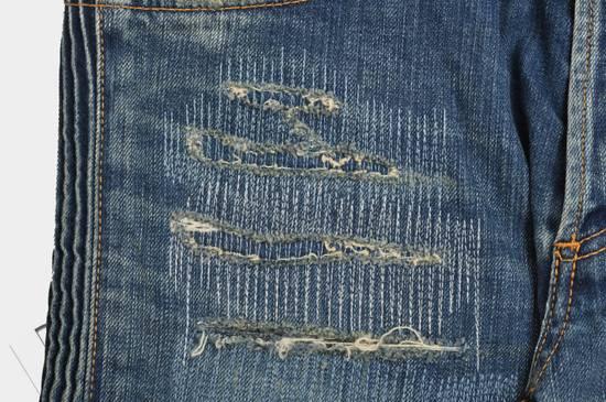 Balmain Distressed Slim Fit Skinny Blue Jeans Size US 31 - 5