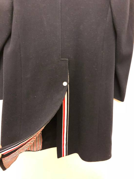 Thom Browne Navy melton wool double-breasted coat Size US XS / EU 42 / 0 - 8