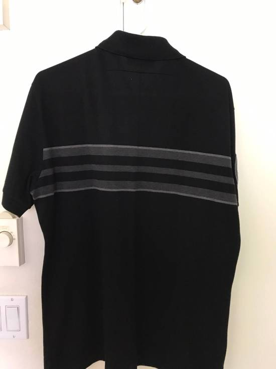 Givenchy Givenchy Polo, Striped Black Grey, Military Patches Flag, Cuban Fit, Size Large, Retail $530 Size US L / EU 52-54 / 3 - 2