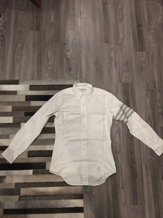 Thom Browne White Oxford With Grey Stripes Size US S / EU 44-46 / 1