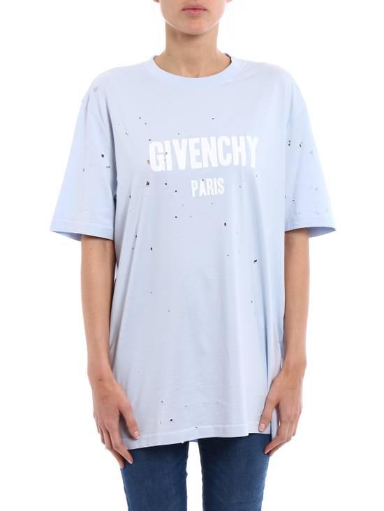 Givenchy Light Blue Destroyed Logo Tee Size US S / EU 44-46 / 1