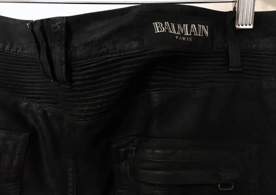 Balmain Waxed biker jeans black Size US 32 / EU 48 - 5
