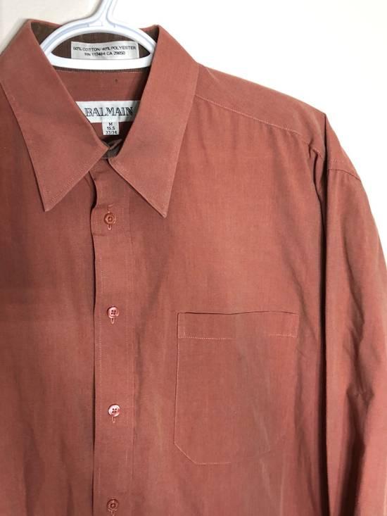 Balmain Red Chambray Long Sleeve button down Size US M / EU 48-50 / 2 - 1