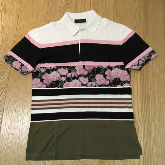 Givenchy GIVENCHY Stripe And Floral Print Polo Shirt Size US S / EU 44-46 / 1