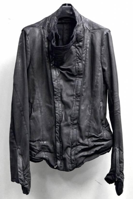 Julius MEN'S BLACK WAXED DENIM JACKET Size US XXL / EU 58 / 5 - 1