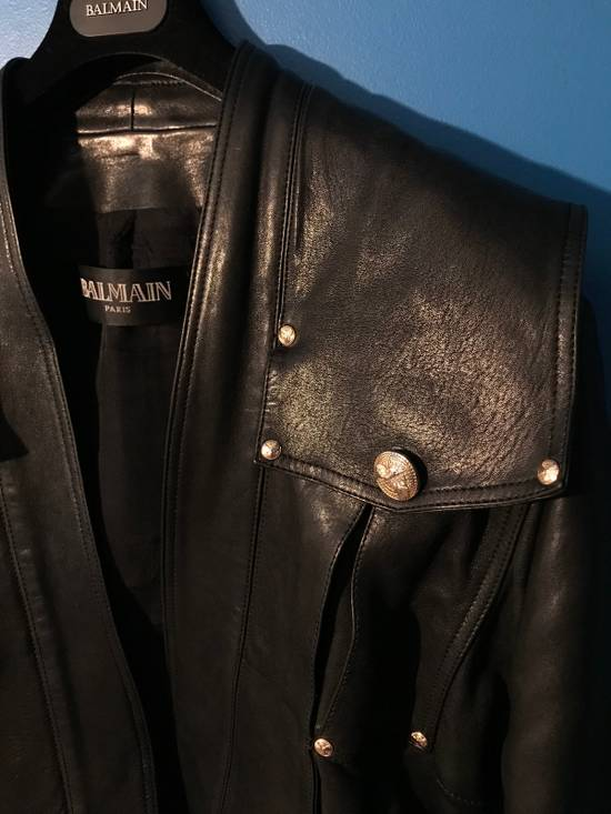 Balmain Lambskin Gold Button Detail Jacket Size US L / EU 52-54 / 3 - 3