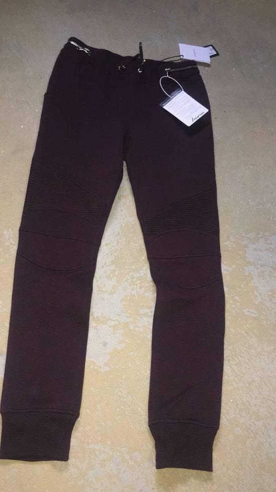 Balmain Balmain Authentic $930 Bordeaux Sweatpants Jogger Size L Brand New Size US 34 / EU 50 - 1