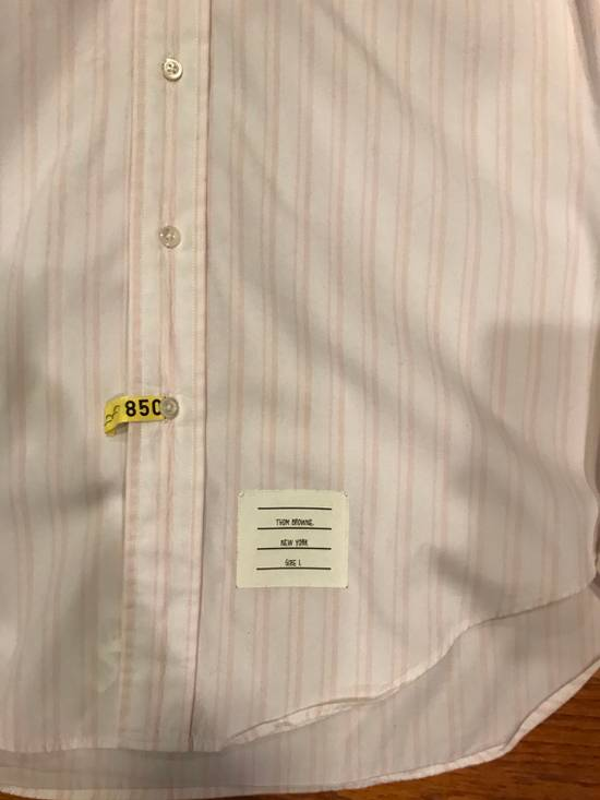 Thom Browne Pink Striped Dress Shirt Size US S / EU 44-46 / 1 - 1