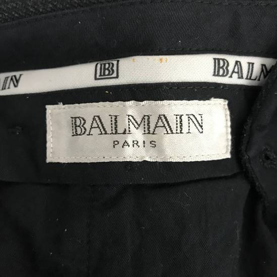 Balmain Black Balmain Slack Pant Cotton Pant Casual Pant Size US 29 - 7