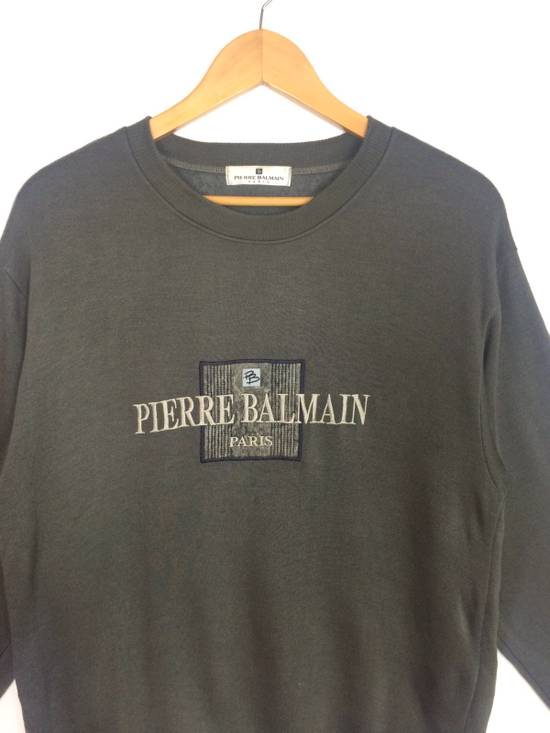 Balmain RARE PIERRE BALMAIN PARSSWEATSHIRT BIG LOGO SPELL OUT EMBROIDERED Size US L / EU 52-54 / 3 - 2