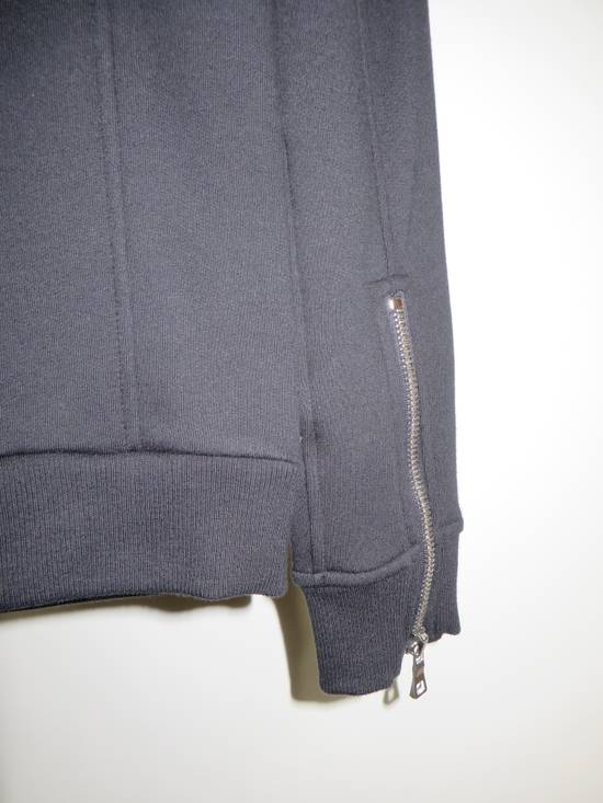 Balmain Quilted leather and cotton sweatshirt Size US XS / EU 42 / 0 - 9