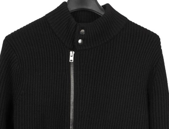 Givenchy Original Givenchy Full Zip Heavy Wool Black Men Biker Style Sweater in size L Size US L / EU 52-54 / 3 - 2