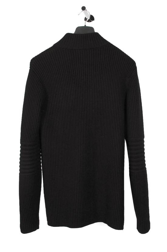Givenchy Original Givenchy Full Zip Heavy Wool Black Men Biker Style Sweater in size L Size US L / EU 52-54 / 3 - 3