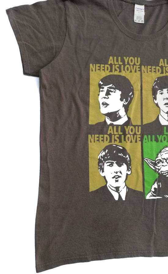 The Beatles Yoda Love Is All You Need T-shirt,Star Wars Funny Premium Cotton Tee