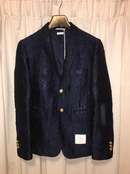 Thom Browne Ss14 Anchor Jacquard Blazer Size US XS / EU 42 / 0
